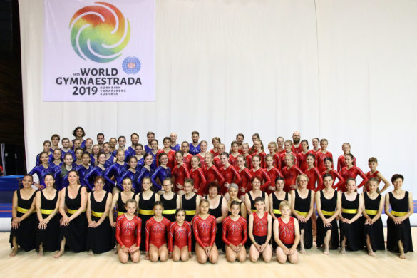 Turnverband Lichtenstein Turnanzug Flexdress Gruppenfoto Gymnaestrada 2019