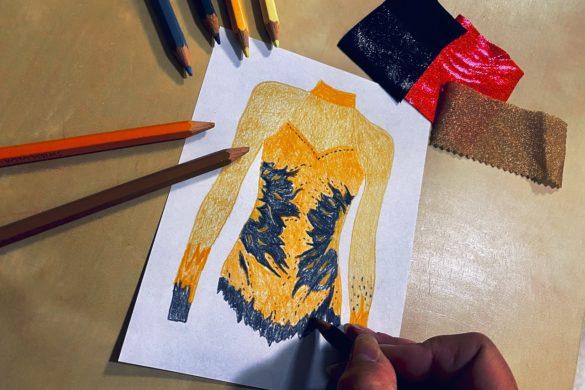 Fashion Design Kostüme Turndress Berufsbekleidung mit Textildruck Stickerei Strass Flexdress Sportbekleidung Schweiz
