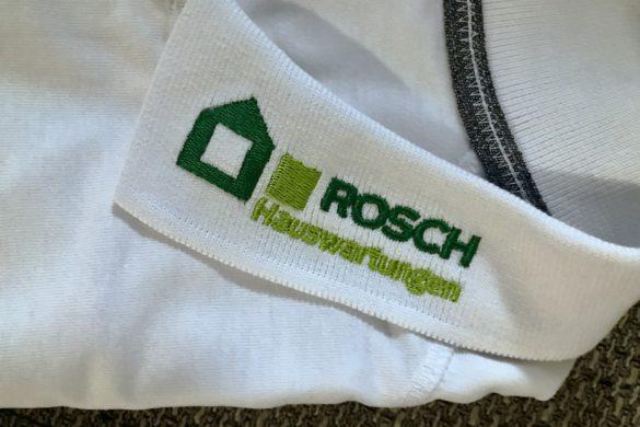 Rosch Hausverwaltung Hauswartungen Wittnau Firmenkleidung Bestickung Textilveredelung Flexdress Stickerei Schweiz