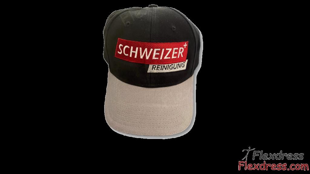 Caps mit Logo für die Schweizer Reinigung und Hauswartung - Firmenbekleidung Arbeitskleidung von Flexdress Schweiz