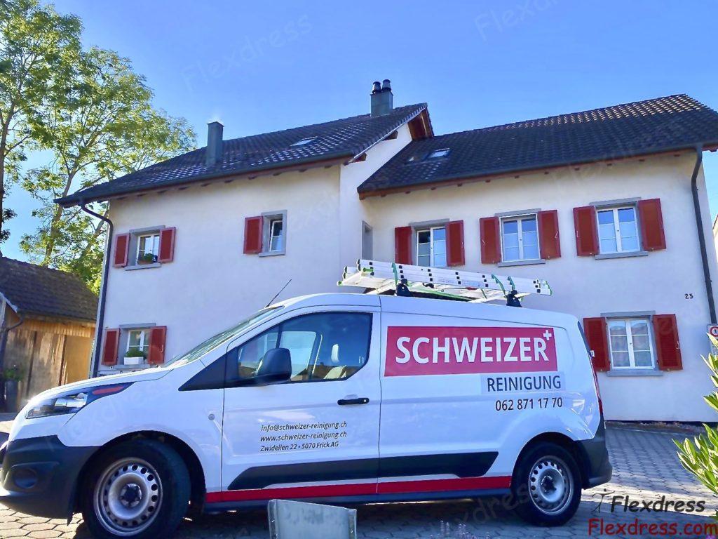Firmenwagen der Schweizer Reinigung in Frick Lenzburg Kaiseraugst Aargau Schweiz