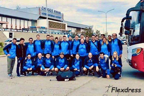 Fussball ohne Grenzen Team mit Sportbekleidung von Flexdress Sport-Shop Schweiz