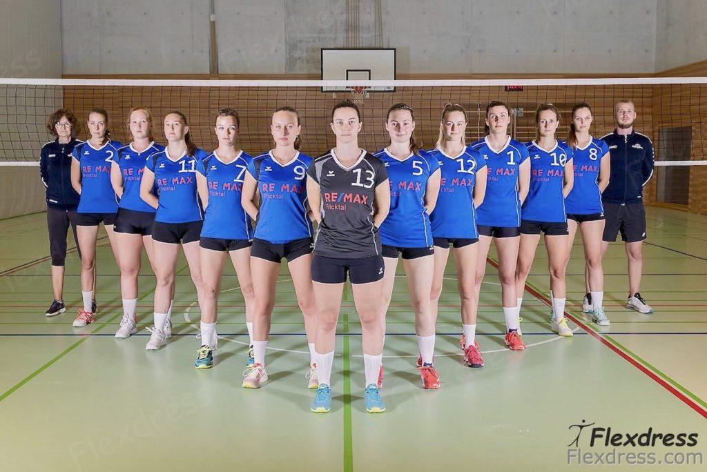 Volley Möhlin Volleyball Mannschaft 1.Liga ausgestattet von Flexdress Sportgeschäft Aargau Schweiz
